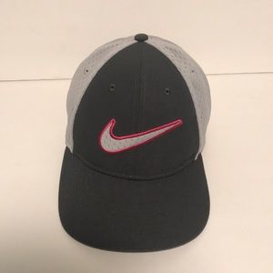 Nike Legacy Dri Fit Gray and Pink hat